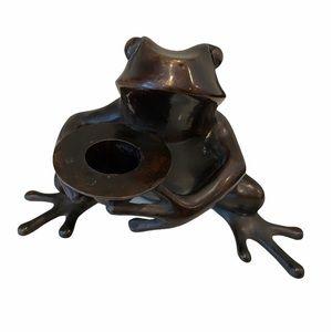 Vintage Restoration Hardware Frog Candle Holder